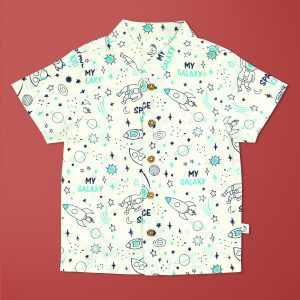 Space Kid Cambric Shirt-imababywear