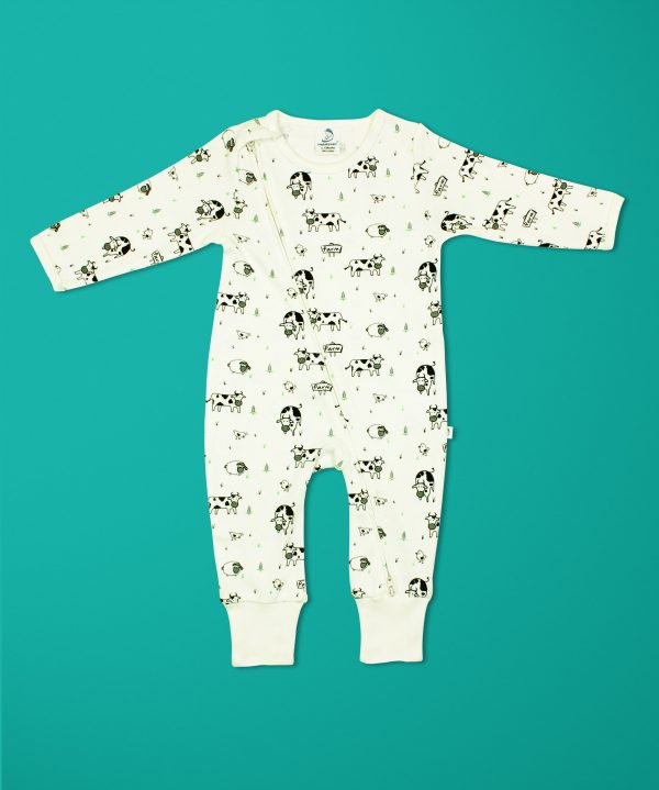 Miss Flamingo Long Sleeve Zipsuit-imababywea