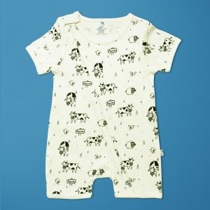 Farmland Short Sleeve Zipsuit-imababywear