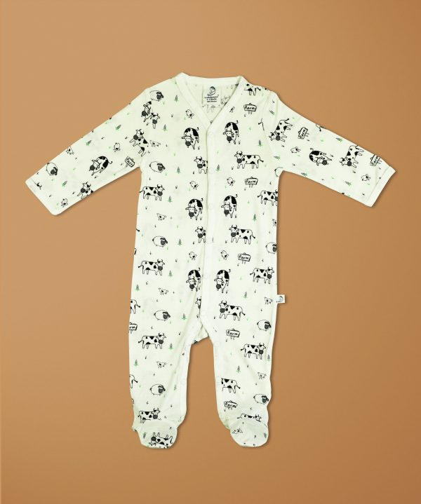 Farmland Bamboo Snap Growsuits-imababywear