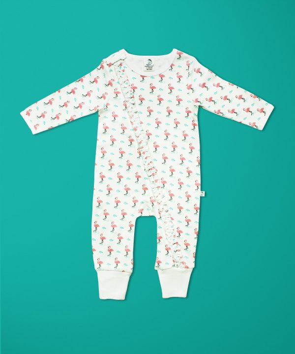 Miss Flamingo Long Sleeve Zipsuit-imababywear