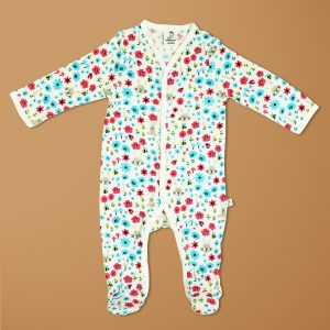 Flora And Fauna Bamboo Snap Growsuits-imababywear