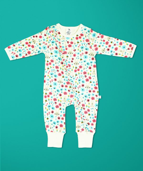 Flora And Fauna Long Sleeve Zipsuit-imababywear