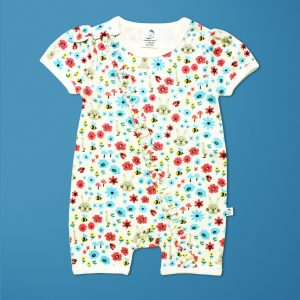 Flora And Fauna Short Sleeve Zipsuit-imababywear