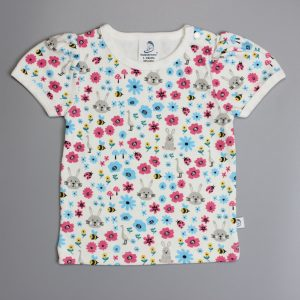 Flora And Fauna Puff Sleeve T-Shirt-imababywear