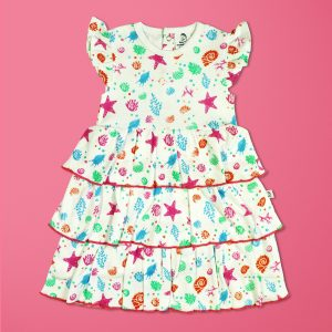 Marine Kingdom Knitted Layered Dress-imababywear