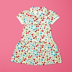 Flora And Fauna Woven Peter Pan Dress-imababywear