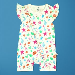Marine Kingdom Short Sleeve Zipsuit-imababywear