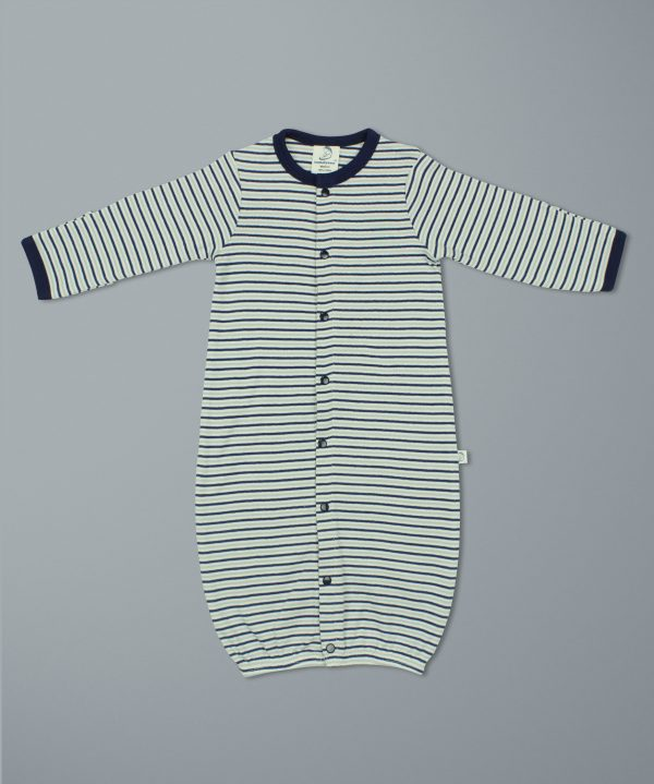 Nautical Stripes Convertible Sleepsuit-imababywear