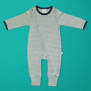 Nautical Stripes Long Sleeve Zipsuit-imababywear