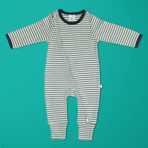 Nautical Stripes Long Sleeve Zipsuit-imababywear