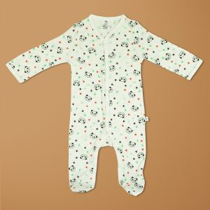 Little Panda Bamboo Snap Growsuits-imababywear