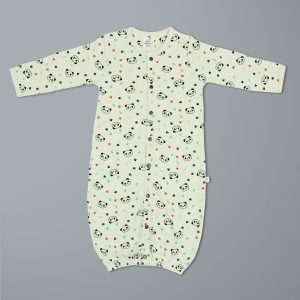 Little Panda Convertible Sleepsuit-imababywear