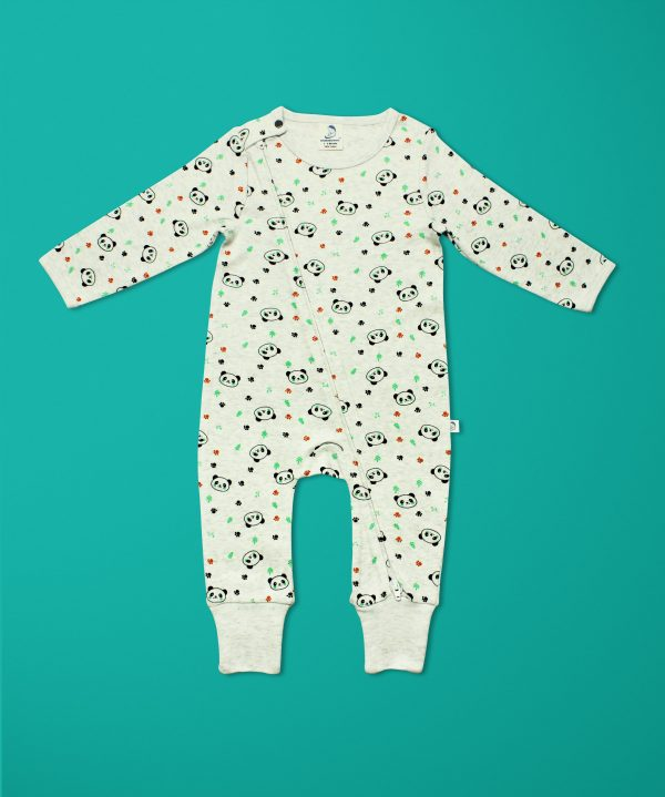 Little Panda Long Sleeve Zipsuit-imababywear