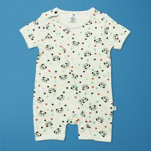 Little Panda Short Sleeve Zipsuit-imababywear