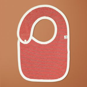 Raspberry Stripes Reversible Bib-imababywear