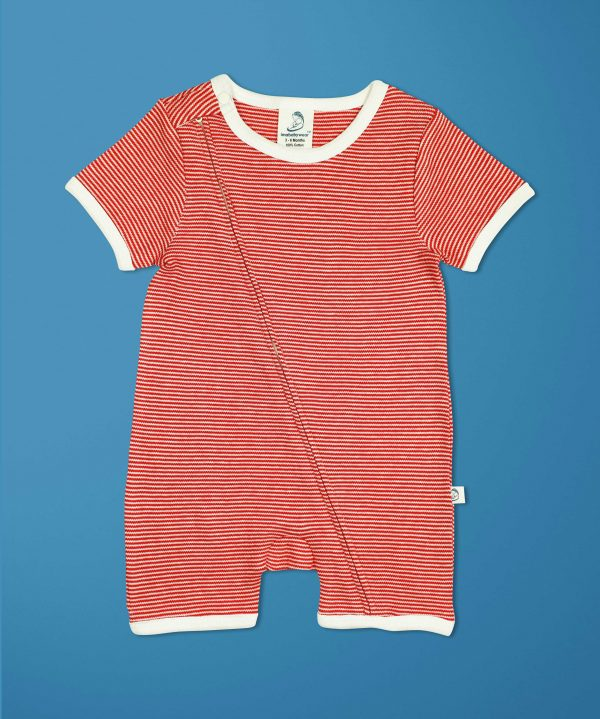 Raspberry Short Sleeve Zipsuit-imababywear