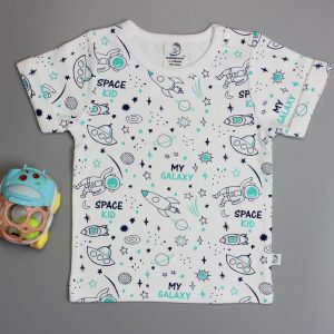 Space Kid Roll-Up Sleeve T-Shirt-imababywear