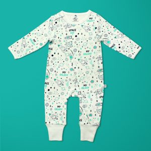 Space Kid Long Sleeve Zipsuit-imababywear