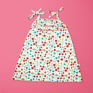 Flora And Fauna Woven Frill Floral Gown-imababywear
