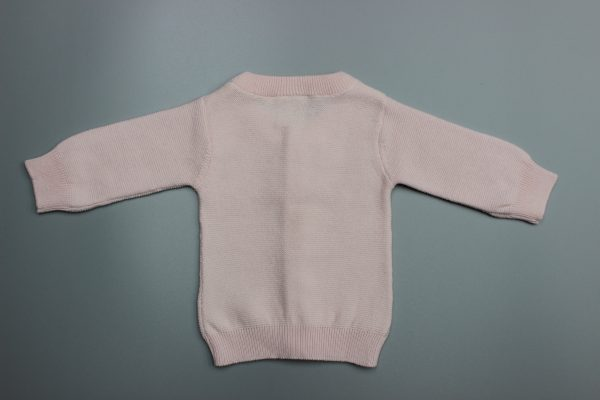 Pink Knitted Cardigan-imababywear