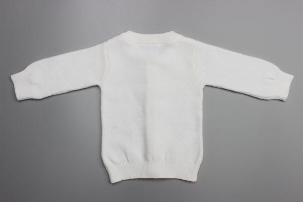 White Knitted Cardigan-imababywear