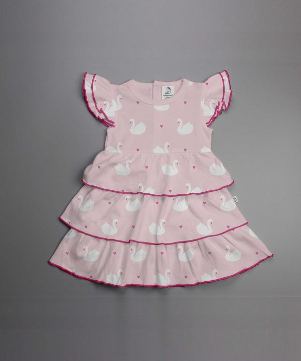 Geese Love Knitted Layered Dress-imababywear