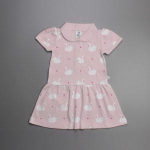 Geese Love Knitted Peterpan Dress-imababywear