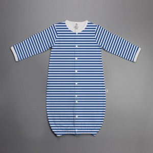 Blue Stripes Convertible Sleepsuit-imababywear