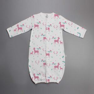 Woodland Deer Convertible Sleepsuit-imababywear