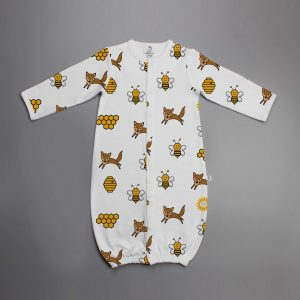Happy Bees Convertible Sleepsuit-imababywear