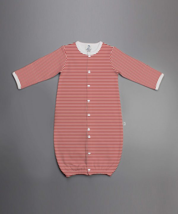 Red Stripes Convertible Sleepsuit-imababywear