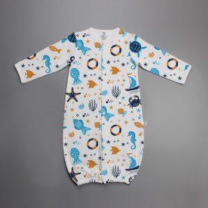 Marine Life Convertible Sleepsuit-imababywear