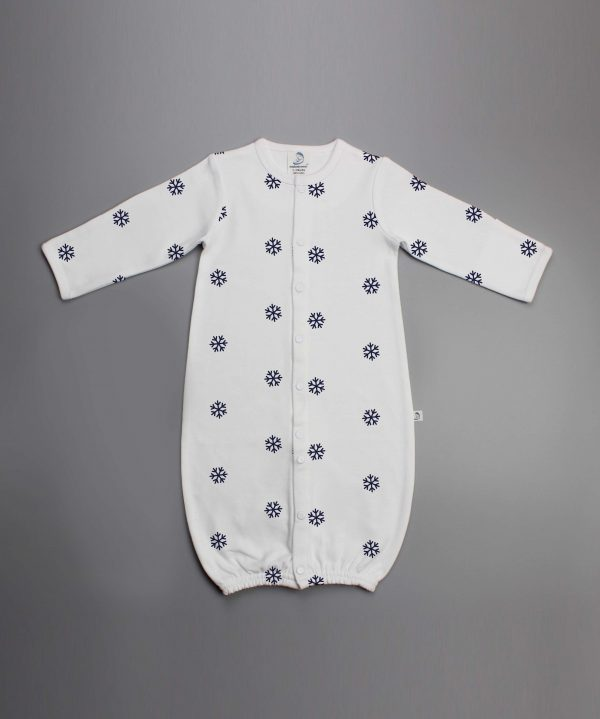 Snow Flakes Convertible Sleepsuit-imababywear