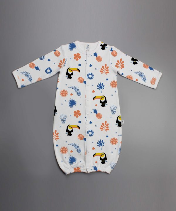 Toucan Forest Convertible Sleepsuit-imababywear