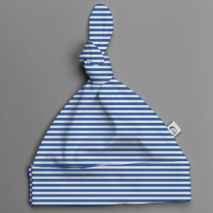Blue Stripes knotted beanie-imababywear