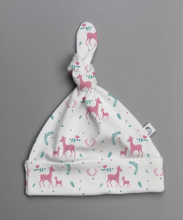 Woodland Deer knotted beanie-imababywear