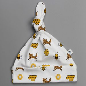 Happy Bees knotted beanie-imababywear