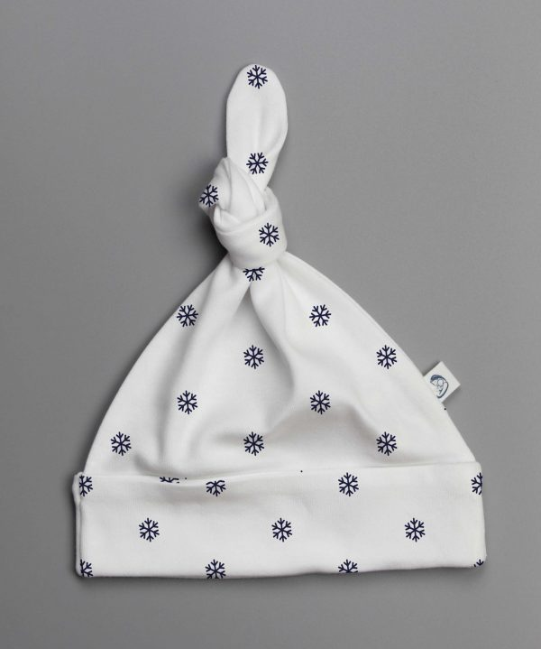 Snow Flakes knotted beanie-imababywear