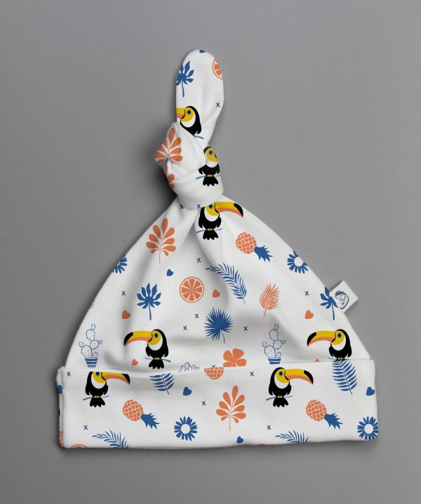 Toucan Forest knotted beanie-imababywear