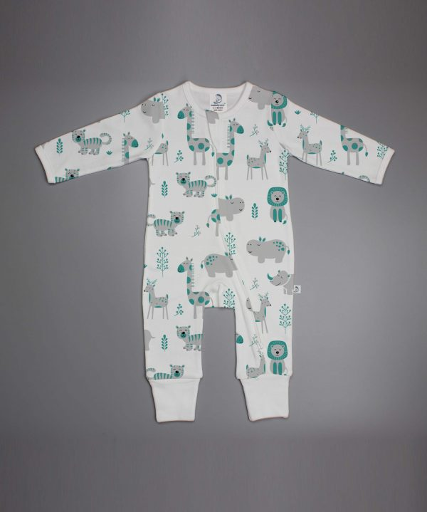 Animal Kingdom long sleeve zipsuit-imababywear