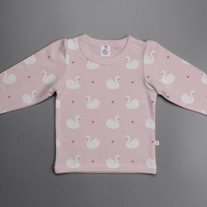 Geese Love puff sleeve T-shirt-imababywear