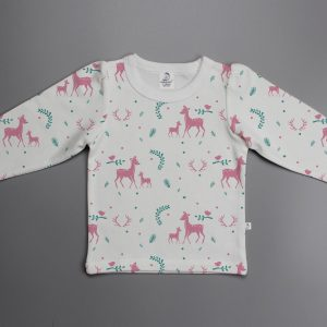 Woodland Deer puff sleeve T-shirt-imababywear