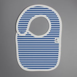Blue Stripes reversible bib-imababywear