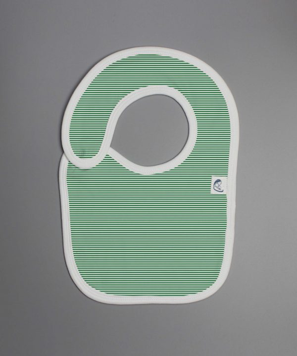 Green Stripes reversible bib-imababywear