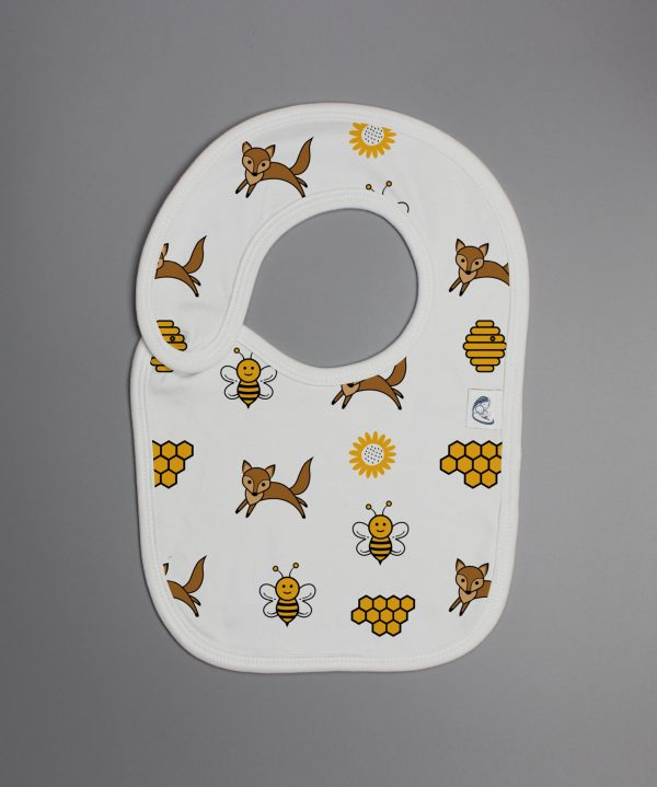 Happy Bees reversible bib-imababywear