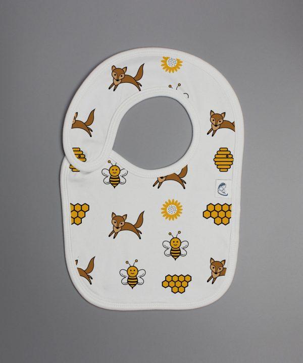 Happy Bees reversible bib-imababywear