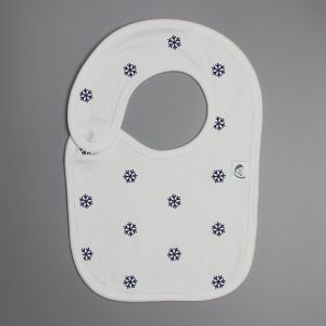 Snow Flakes reversible bib-imababywear