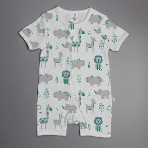 Animal Kingdom short sleeve zipsuit-imababywear