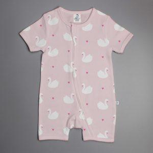 Geese Love short sleeve zipsuit-imababywear
